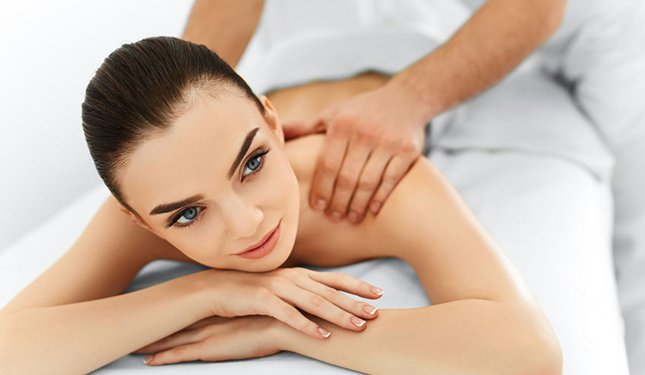 Body Massage Training Course image of client having a shoulder massage