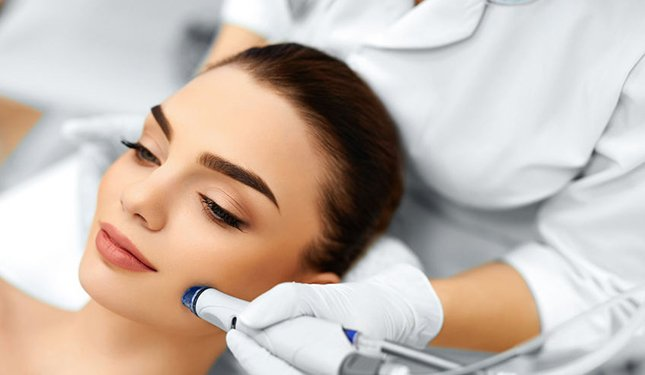 Microdermabrasion Training Courses - image of treatment to left cheek