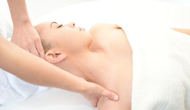 Refresher Training showing Massage Treatment