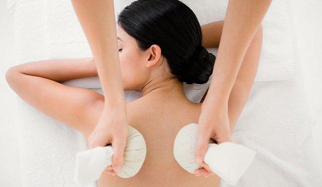 Thai Herbal Compress Massage training Course - Shoulder Massage Image