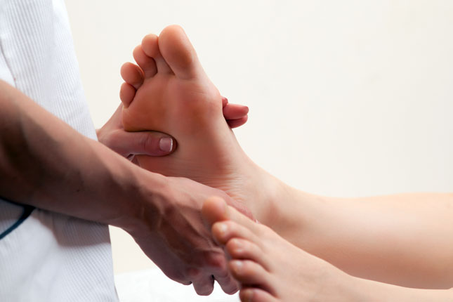 Reflexology Training Courses - Thumb walking technique