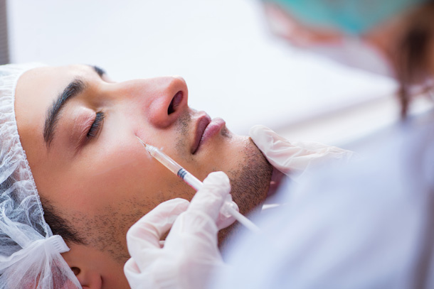 Mesotherapy Training Courses - treatment application above right eye